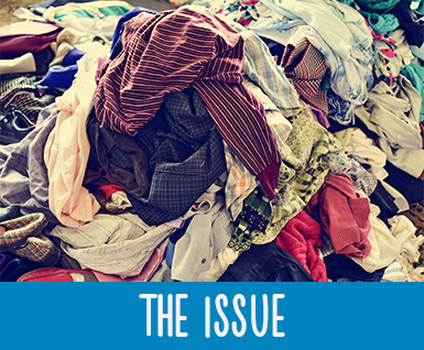 North americans send 10.5 million tons of clothing to landfills every year.